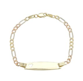Bracelet In 14K Three-Tone Gold