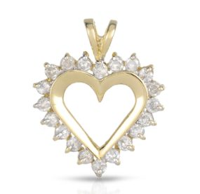 Diamond Heart Pendant – 26mm