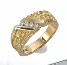 Beautifully Designed Brilliant Cut Diamond Ring In YG 14K