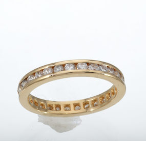Beautifully Crafted Brilliant Cut Diamond Band In YG 14K